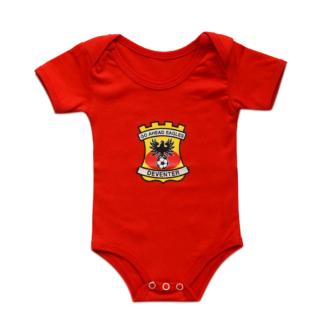 Baby Fleece Blanket rood/geel